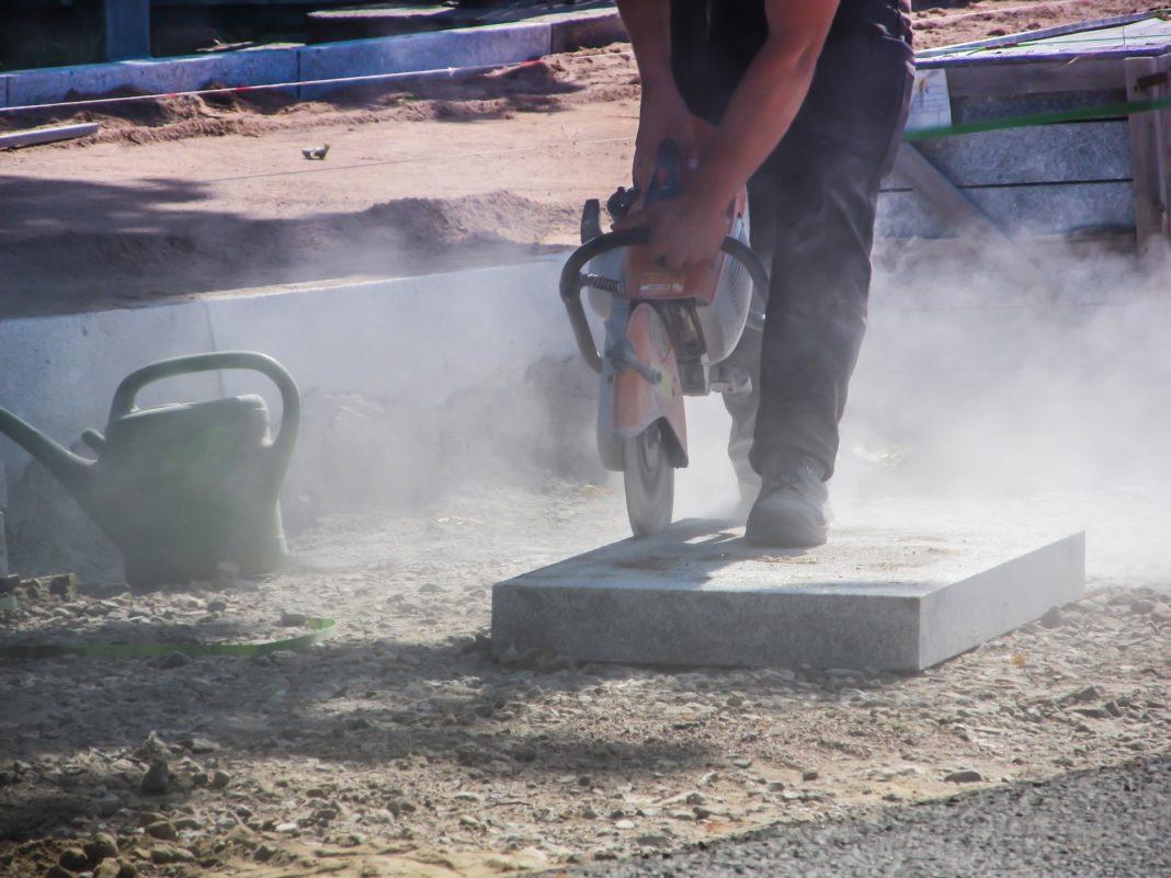 helsefarlig støv på byggeplass